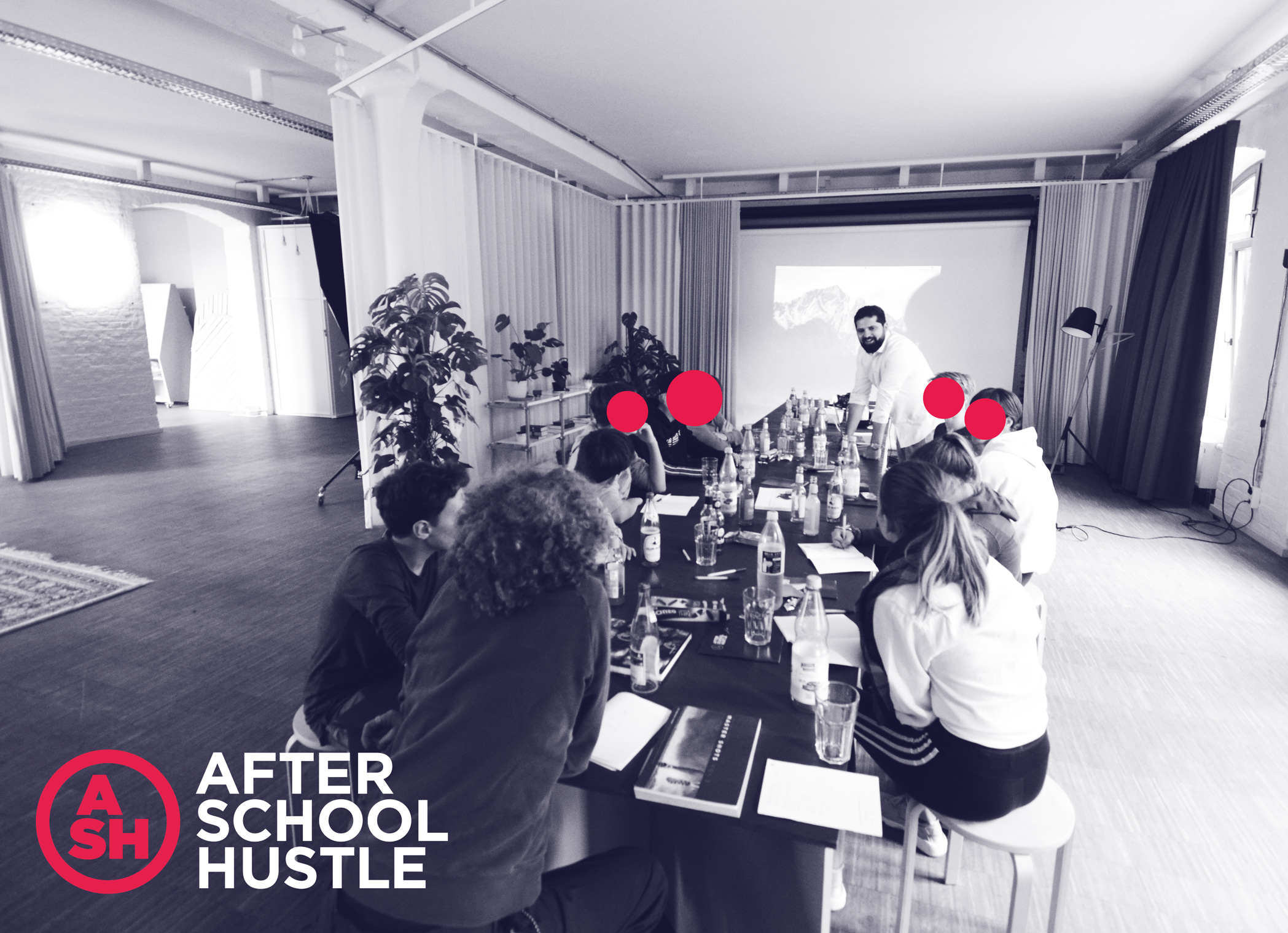 A workshop at After School Hustle.